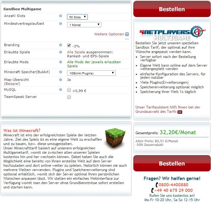Netplayers Minecraft Server Mieten Skyraiderde - Minecraft server spielen kostenlos